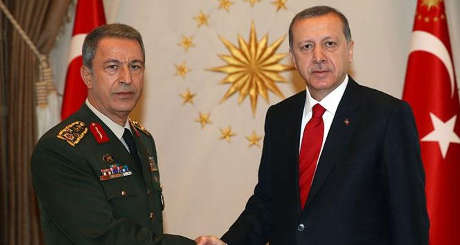 Cumhurbaşkanı Erdoğan, Orgeneral Akar'ı kabul etti!