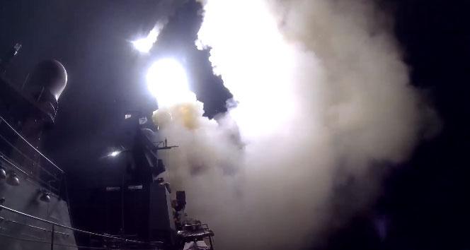 Hazar Denizi'nden Suriye'deki IŞİD'i vurdu