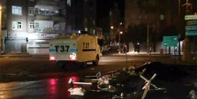 Diyarbakır'da yol kapatan gruba polis müdahale etti