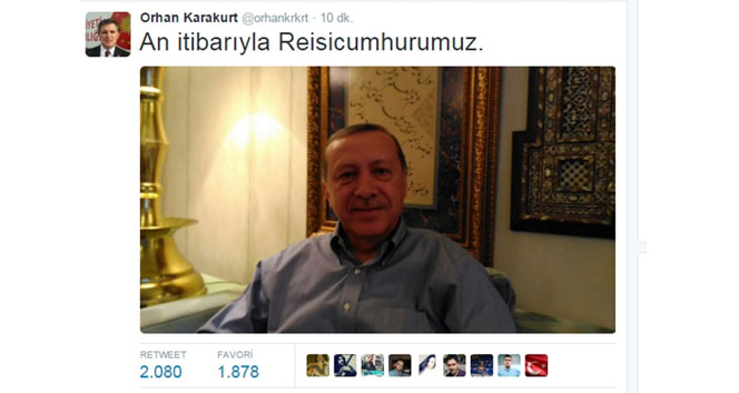Erdoğandan seçim fotoğrafı