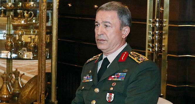 Genelkurmay Başkanı Akar, sınırda incelemelerde bulundu