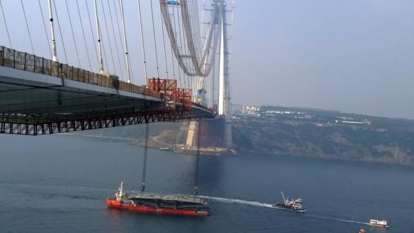 İki yakanın birleşmesine 415 metre kaldı