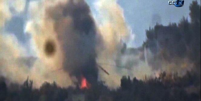 Pilotları aramaya giden Rus helikopter böyle vuruldu