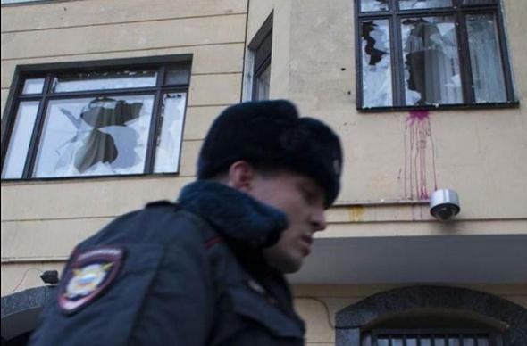 Moskova'da Türk Büyükelçiliği'ne saldırı