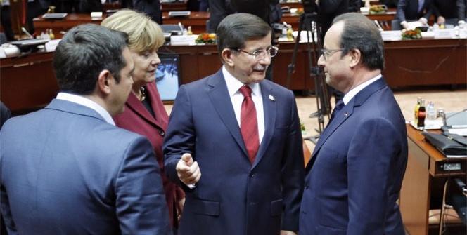 AB-Türkiye zirvesi Brüksel'de başladı