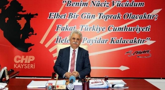 Yapılacak Olan CHP İl Kongresi'ni Değerlendiren İl Başkanı Mustafa Ayan: