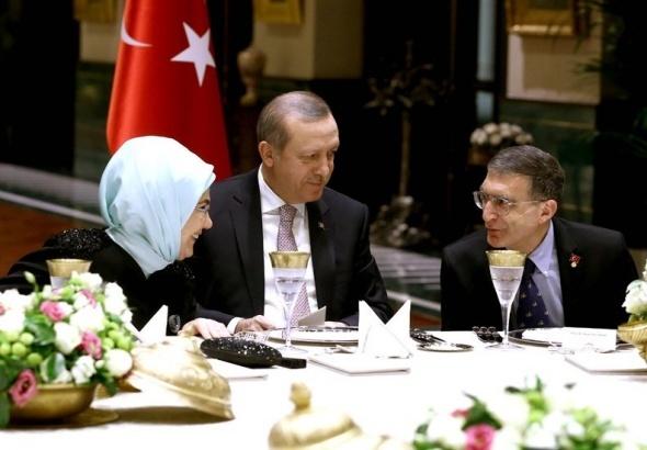 Erdoğan, Aziz Sancar onuruna akşam yemeği verdi