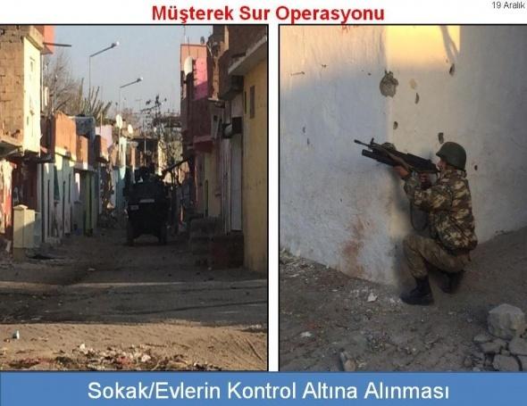 Sur'da bugüne kadar 19 terörist öldürüldü