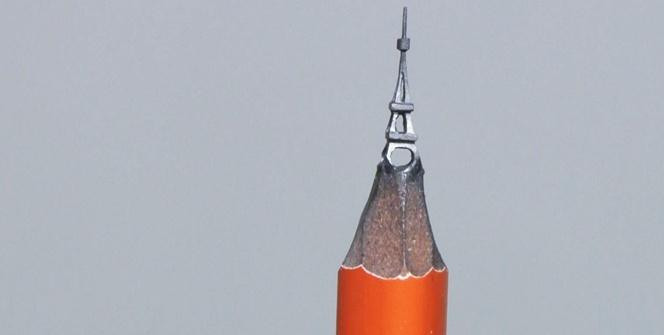 Kurşun kalemin ucuna Eyfel Kulesi inşa etti