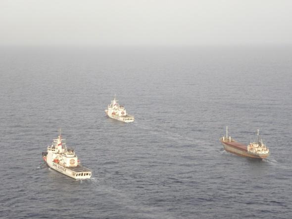 13 ton uyuşturucuyla yakalanan gemiye böyle operasyon yapıldı