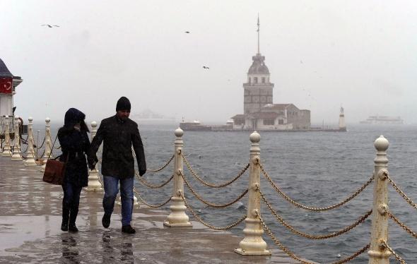 Kar İstanbul'da bir başka güzel