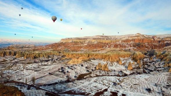 Kapadokya'da kışın sanatı