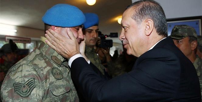 Erdoğan'dan PKK'nın korkulu rüyası komandolara ziyaret
