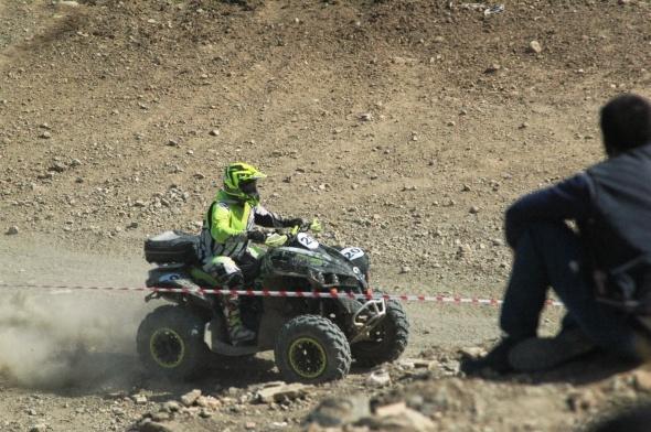 ATV yarışları nefes kesti