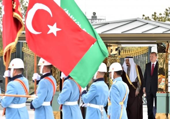 Kral Selman Cumhurbaşkanlığı Külliyesi'nde resmi törenle karşılandı
