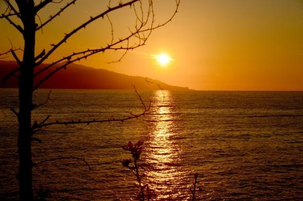 Seyrine doyum olmayan gün batımı