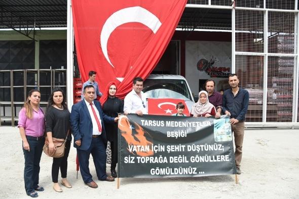 Tarsus'tan askere büyük güç desteği