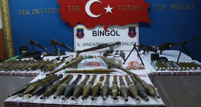 Bingölde örgütün silah depoları bulundu