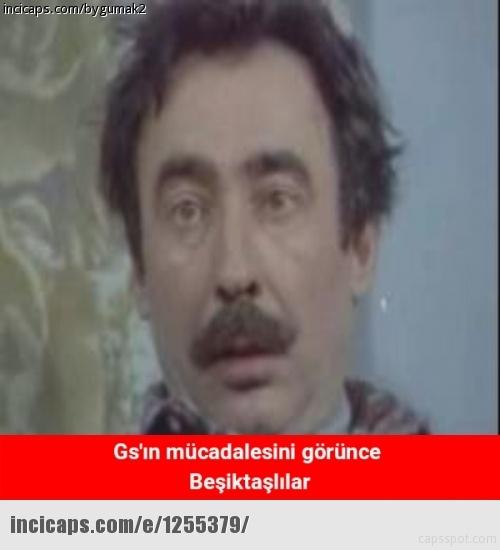 Galatasaray - Beşiktaş maçı caps'leri