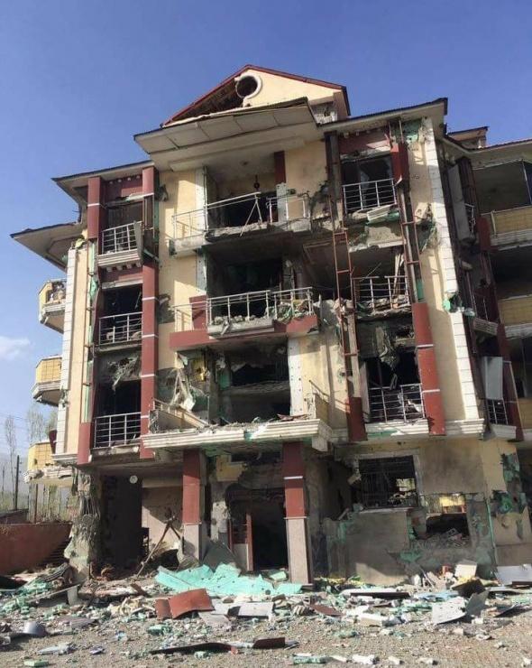 Yüksekova'da çatışmaların yaşandığı sokaklardan ilk fotoğraflar