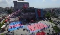Gençlik festivali havadan görüntülendi
