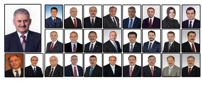 Bakanlar açıklandı: İşte 65. hükümet