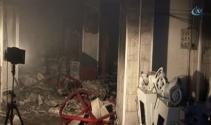 Ekmek fabrikasında kokutan yangın!