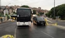 Geri manevra yapan otobüs vatandaşı ezdi