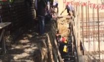 İnşaat boşluğuna düşen işçiyi itfaiye kurtardı