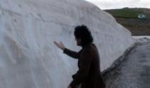 Mayıs ayı Karapetin karını eritemedi