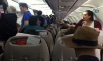 Mabel Matize uçakta teknik arıza şoku