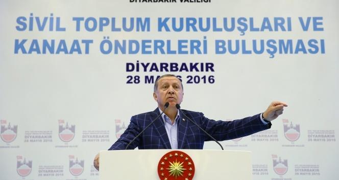 Erdoğan: El ele, omuz omuza vereceğiz