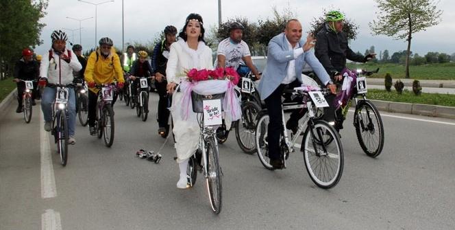 Bisiklet aşkı mutlu sonla bitti