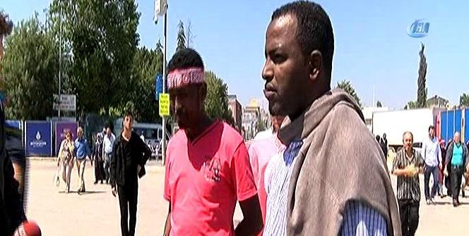 Vatandaşlar Fetih şöleni için Yenikapı'ya gelmeye başladı