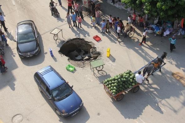 Adana'da ilginç görüntü