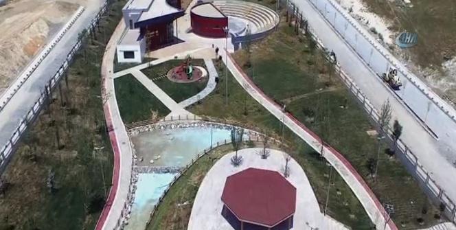 Hizmete açılan 'Arnavutköy Vadipark Projesi' havadan görüntülendi