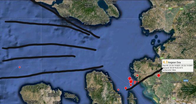 En büyük deprem riski Midillinin güneyinde