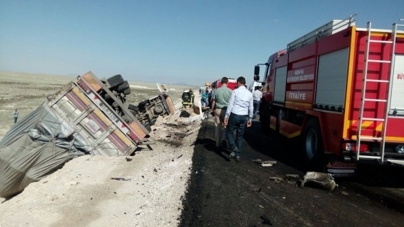 Konya'da feci kaza: 10 ölü