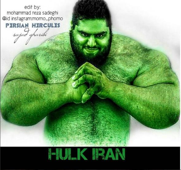 İranlı Hulk, tüm dikkatleri üzerine çekti