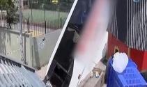 Yolcu midibüsü iki metre yüksekten yere çakıldı