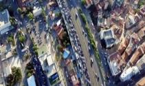 İstanbul trafiği havadan görüntülendi