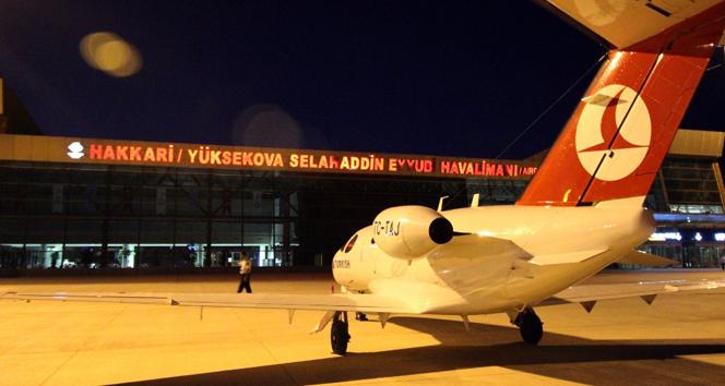 Yüksekovaya 11 ay sonra ilk uçak