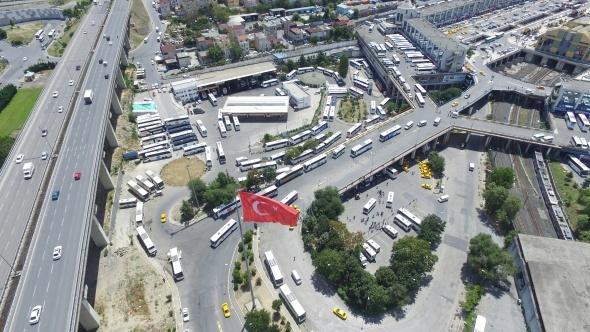 İstanbul Otogarı, havadan görüntülendi