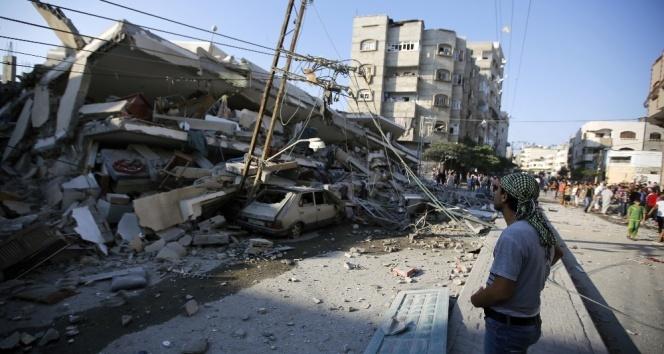 Son dakika haberleri! Gazzeye hava saldırısı