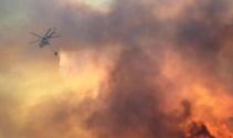 İzmirde askeri alanda korkutan yangın