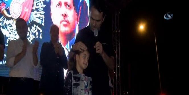 5 yaşındaki Duru'dan valiye teşekkür