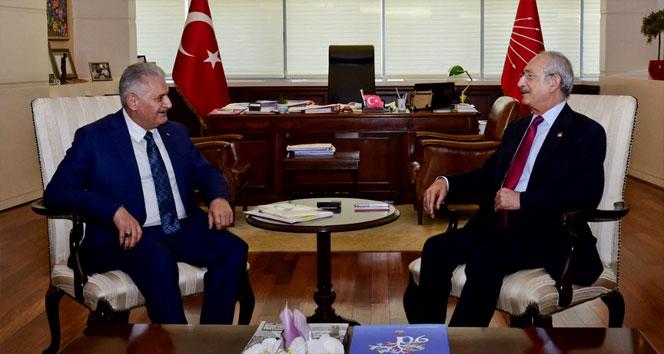 Başbakan Yıldırım, CHP Genel Merkezinde