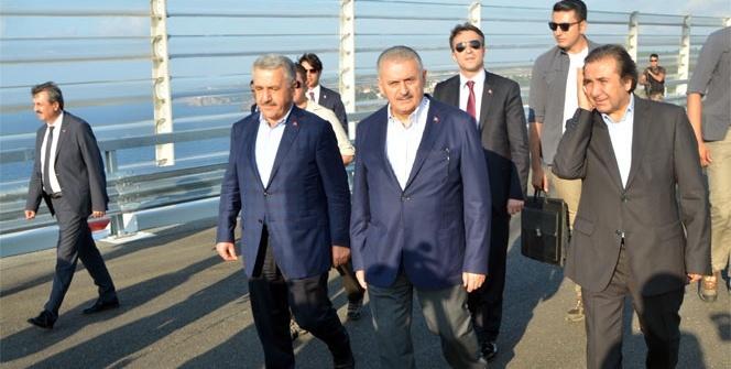 Başbakan Yıldırım 3. köprüde incelemelerde bulundu