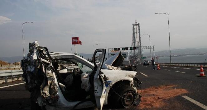 Osmangazi Köprüsünde feci kaza: 1 polis şehit oldu
