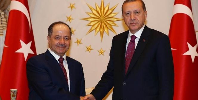 Cumhurbaşkanı Erdoğan Mesut Barzani'yi kabul etti